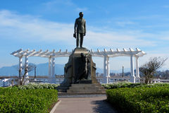 Head of the Ponte Hercílio Luz - Florianópolis - Santa Catarina, Brazil stock photography