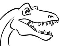 Head predatory dinosaur Royalty Free Stock Photography