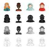 Head, profession, hobbies and other web icon in cartoon style. Special, overalls, fireman icons in set collection. Royalty Free Stock Photo