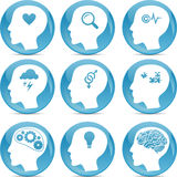 Head profile icons Royalty Free Stock Image