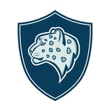 The head of the profile of the snow leopard coat of arms. Stock Photography