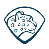 The head of the profile of the snow leopard coat of arms. Royalty Free Stock Photography