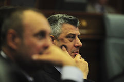 Head of a provincial Kosovo government Hashim Thaci Stock Photography