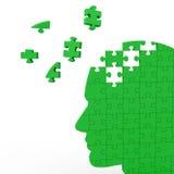 Head Puzzle Showing Human Intelligence Stock Photo
