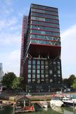 Head quarters of Havensteder, an living rental company in Rotterdam at the Wijnhaven harbor.  royalty free stock images