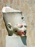 Head of the queen Hatshepsut. Hatshepsut Temple, Egypt Royalty Free Stock Image