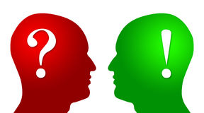 Head question and answer Stock Images