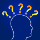 Head with Question Mark Royalty Free Stock Photo