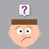 Head Question Mark Stock Image