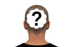 Head question mark royalty free stock photography