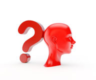 Head and question sign Royalty Free Stock Image