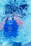 Head of racing swimmer Royalty Free Stock Photography