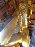 Head of the reclining buddha royalty free stock photos