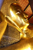 Head of Reclining Buddha in Bangkok Royalty Free Stock Photos