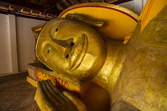 The head of Reclining Buddha Royalty Free Stock Photo