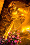 Head of the reclining Buddha Stock Photography