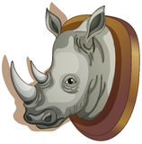 A head of a rhino Royalty Free Stock Photo