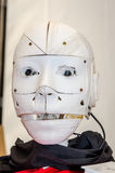 The head of the robot drone printed on a 3D printer is able to speak and has video cameras for eyes Royalty Free Stock Photos