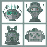 Head Robot Vector Design. Tin Toy Robot Head vector new design Stock Photography