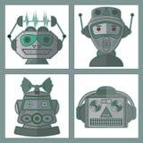 Head robotvektordesign Arkivbild