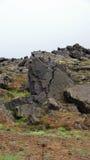 Head rock at Leirhnjúkur Lava Fields in Krafla area Royalty Free Stock Photo