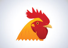 Head of rooster. Head of colorful rooster. Vector illustration Royalty Free Stock Image