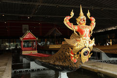 The head of the royal barge. The head of the rayal barge. One of supreme art of Thailand Royalty Free Stock Photography