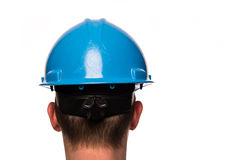 Head with safety helmet Royalty Free Stock Images