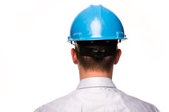 Head with safety helmet Royalty Free Stock Photo