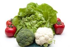 Head salad with broccoli  and tomato Stock Image