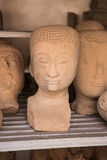 Head of Sandstone Buddha Stock Photos