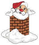 Head of santa with chimney Stock Photos
