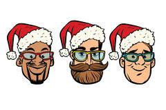Head Santa Claus multi-ethnic group Stock Image