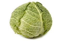 Head of savoy cabbage Royalty Free Stock Photo