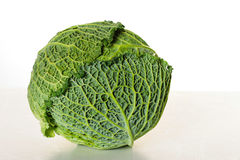 Head of savoy cabbage. Shot of a head of savoy cabbage Stock Photo