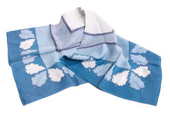 Head-scarf in shades of blue Royalty Free Stock Images