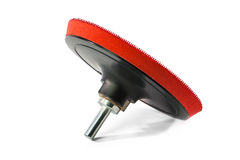 Head screw gan  with Velcro fastening. For grinding and polishing wheels Royalty Free Stock Image