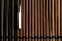 Head for screwdriver bits on wooden background, Tools collection turn-screw.  Stock Photography