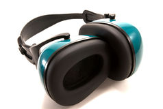 Head set to block out noise. Ear phones to block out noise royalty free stock image