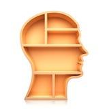 Head shape 3d Stock Images