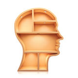 Head shape 3d Royalty Free Stock Photo