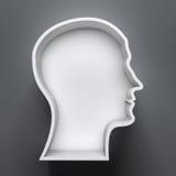 Head shape 3d Royalty Free Stock Photo