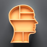 Head shape 3d Royalty Free Stock Images