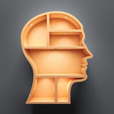 Head shape 3d Stock Photography