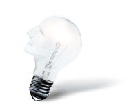 Head shaped bulb Royalty Free Stock Photography