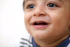 Head shot of adorable baby boy. Close up stock photos