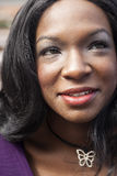 Head Shot of Beautiful African American Woman Royalty Free Stock Photos