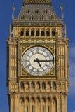 Head on shot of Big Ben clock face Stock Photos