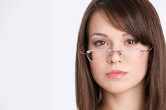 Head shot of businesswoman in glasses Stock Image