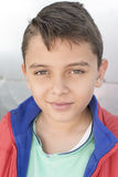 Head shot handsome child of mixed ethnicity Royalty Free Stock Images